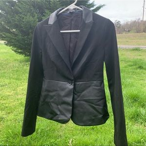 Express Black Leather Women's Suit Jacket